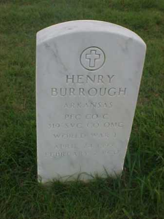 BURROUGH (VETERAN WWI), HENRY - Pulaski County, Arkansas | HENRY BURROUGH (VETERAN WWI) - Arkansas Gravestone Photos