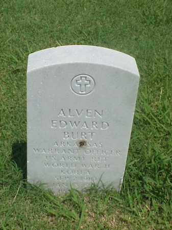 BURT (VETERAN 2 WARS), ALVEN EDWARD - Pulaski County, Arkansas | ALVEN EDWARD BURT (VETERAN 2 WARS) - Arkansas Gravestone Photos