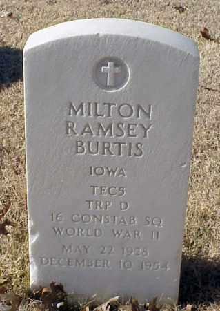 BURTIS (VETERAN WWII), MILTON RAMSEY - Pulaski County, Arkansas | MILTON RAMSEY BURTIS (VETERAN WWII) - Arkansas Gravestone Photos