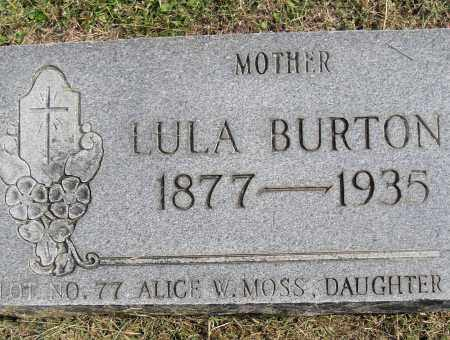 BURTON, LULA - Pulaski County, Arkansas | LULA BURTON - Arkansas Gravestone Photos