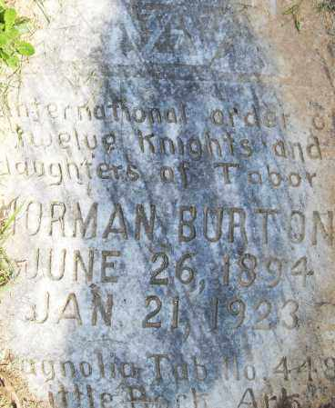 BURTON, NORMAN - Pulaski County, Arkansas | NORMAN BURTON - Arkansas Gravestone Photos