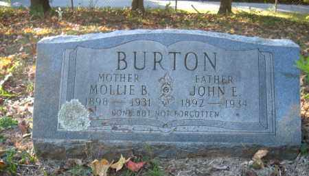 BURTON, MOLLIE B - Pulaski County, Arkansas | MOLLIE B BURTON - Arkansas Gravestone Photos