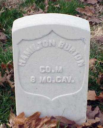 BURTON (VETERAN UNION), HAMILTON - Pulaski County, Arkansas | HAMILTON BURTON (VETERAN UNION) - Arkansas Gravestone Photos