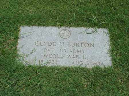 BURTON (VETERAN WWII), CLYDE H - Pulaski County, Arkansas | CLYDE H BURTON (VETERAN WWII) - Arkansas Gravestone Photos