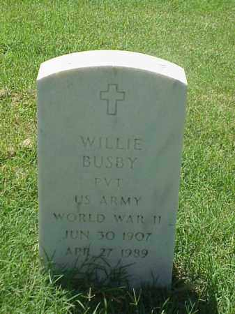 BUSBY (VETERAN WWII), WILLIE - Pulaski County, Arkansas | WILLIE BUSBY (VETERAN WWII) - Arkansas Gravestone Photos