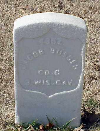 BUSGEN (VETERAN UNION), JACOB - Pulaski County, Arkansas | JACOB BUSGEN (VETERAN UNION) - Arkansas Gravestone Photos