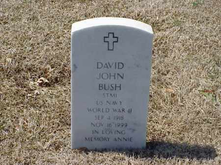 BUSH (VETERAN WWII), DAVID JOHN - Pulaski County, Arkansas | DAVID JOHN BUSH (VETERAN WWII) - Arkansas Gravestone Photos