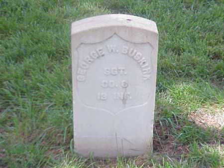 BUSKIRK (VETERAN UNION), GEORGE  W - Pulaski County, Arkansas | GEORGE  W BUSKIRK (VETERAN UNION) - Arkansas Gravestone Photos