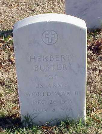 BUSTER (VETERAN WWII), HERBERT - Pulaski County, Arkansas | HERBERT BUSTER (VETERAN WWII) - Arkansas Gravestone Photos