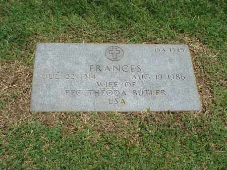 BUTLER, FRANCES - Pulaski County, Arkansas | FRANCES BUTLER - Arkansas Gravestone Photos