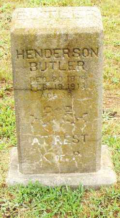 BUTLER, HENDERSON - Pulaski County, Arkansas | HENDERSON BUTLER - Arkansas Gravestone Photos