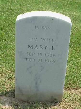 BUTLER, MARY L - Pulaski County, Arkansas | MARY L BUTLER - Arkansas Gravestone Photos