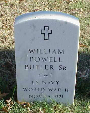 BUTLER, SR (VETERAN WWII), WILLIAM POWELL - Pulaski County, Arkansas | WILLIAM POWELL BUTLER, SR (VETERAN WWII) - Arkansas Gravestone Photos