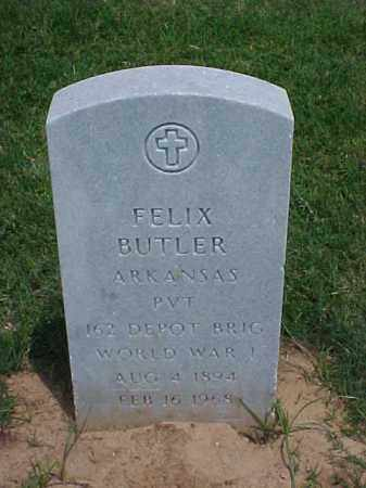 BUTLER (VETERAN WWI), FELIX - Pulaski County, Arkansas | FELIX BUTLER (VETERAN WWI) - Arkansas Gravestone Photos
