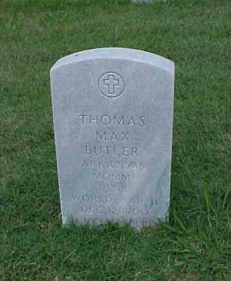 BUTLER (VETERAN WWII), THOMAS MAX - Pulaski County, Arkansas | THOMAS MAX BUTLER (VETERAN WWII) - Arkansas Gravestone Photos