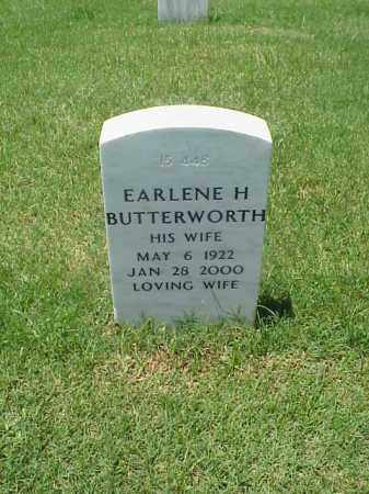 BUTTERWORTH, EARLENE H - Pulaski County, Arkansas | EARLENE H BUTTERWORTH - Arkansas Gravestone Photos