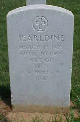BUTTS, JEARLDINE - Pulaski County, Arkansas | JEARLDINE BUTTS - Arkansas Gravestone Photos