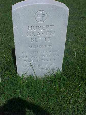 BUTTS (VETERAN WWII), HUBERT CRAVEN - Pulaski County, Arkansas | HUBERT CRAVEN BUTTS (VETERAN WWII) - Arkansas Gravestone Photos