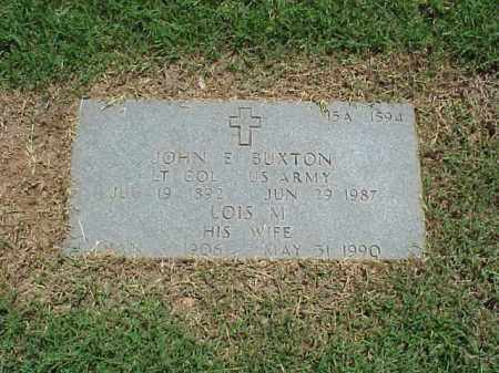 BUXTON (VETERAN WWII), JOHN E - Pulaski County, Arkansas | JOHN E BUXTON (VETERAN WWII) - Arkansas Gravestone Photos