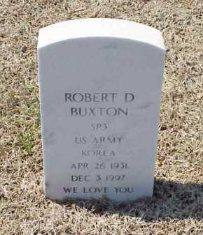 BUXTON (VETERAN KOR), ROBERT D - Pulaski County, Arkansas | ROBERT D BUXTON (VETERAN KOR) - Arkansas Gravestone Photos