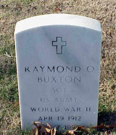 BUXTON (VETERAN WWII), RAYMOND O - Pulaski County, Arkansas | RAYMOND O BUXTON (VETERAN WWII) - Arkansas Gravestone Photos