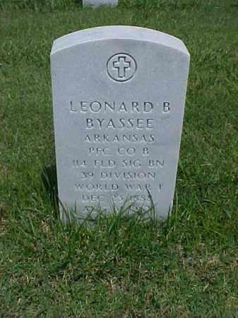 BYASSEE (VETERAN WWI), LEONARD B - Pulaski County, Arkansas | LEONARD B BYASSEE (VETERAN WWI) - Arkansas Gravestone Photos