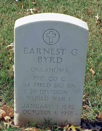 BYRD (VETERAN WWI), EARNEST G - Pulaski County, Arkansas | EARNEST G BYRD (VETERAN WWI) - Arkansas Gravestone Photos