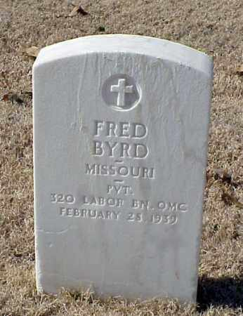 BYRD (VETERAN WWI), FRED - Pulaski County, Arkansas | FRED BYRD (VETERAN WWI) - Arkansas Gravestone Photos