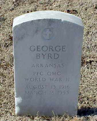 BYRD (VETERAN WWII), GEORGE - Pulaski County, Arkansas | GEORGE BYRD (VETERAN WWII) - Arkansas Gravestone Photos