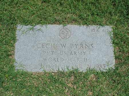 BYRNS (VETERAN WWII), CECIL W - Pulaski County, Arkansas | CECIL W BYRNS (VETERAN WWII) - Arkansas Gravestone Photos