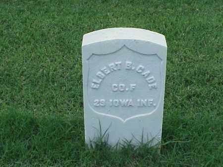 CADE (VETERAN UNION), ELBERT B - Pulaski County, Arkansas | ELBERT B CADE (VETERAN UNION) - Arkansas Gravestone Photos