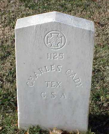 CADY (VETERAN CSA), CHARLES - Pulaski County, Arkansas | CHARLES CADY (VETERAN CSA) - Arkansas Gravestone Photos