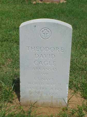 CAGLE (VETERAN WWII), THEODORE DAVID - Pulaski County, Arkansas | THEODORE DAVID CAGLE (VETERAN WWII) - Arkansas Gravestone Photos