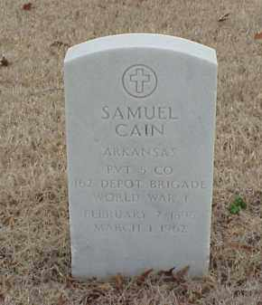 CAIN  (VETERAN WWI), SAMUEL - Pulaski County, Arkansas | SAMUEL CAIN  (VETERAN WWI) - Arkansas Gravestone Photos