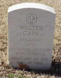 CAIN  (VETERAN WWI), WALTER - Pulaski County, Arkansas | WALTER CAIN  (VETERAN WWI) - Arkansas Gravestone Photos