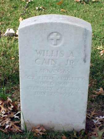 CAIN, JR (VETERAN WWI), WILLIS A - Pulaski County, Arkansas | WILLIS A CAIN, JR (VETERAN WWI) - Arkansas Gravestone Photos