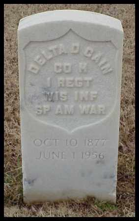 CAIN (VETERAN SAW), DELTA D - Pulaski County, Arkansas | DELTA D CAIN (VETERAN SAW) - Arkansas Gravestone Photos