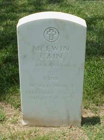 CAIN (VETERAN WWII), MCEWIN - Pulaski County, Arkansas | MCEWIN CAIN (VETERAN WWII) - Arkansas Gravestone Photos