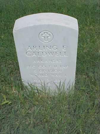 CALDWELL (VETERAN WWI), ARLING E - Pulaski County, Arkansas | ARLING E CALDWELL (VETERAN WWI) - Arkansas Gravestone Photos