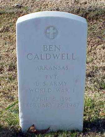 CALDWELL (VETERAN WWI), BEN - Pulaski County, Arkansas | BEN CALDWELL (VETERAN WWI) - Arkansas Gravestone Photos