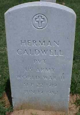 CALDWELL (VETERAN WWII), HERMAN - Pulaski County, Arkansas | HERMAN CALDWELL (VETERAN WWII) - Arkansas Gravestone Photos