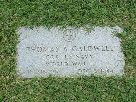 CALDWELL (VETERAN WWII), THOMAS A - Pulaski County, Arkansas | THOMAS A CALDWELL (VETERAN WWII) - Arkansas Gravestone Photos
