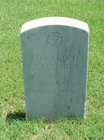 CALENDO (VETERAN WWI), EDWARD H - Pulaski County, Arkansas | EDWARD H CALENDO (VETERAN WWI) - Arkansas Gravestone Photos