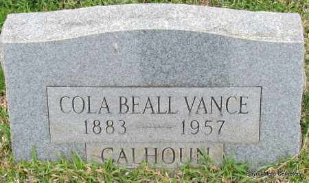 CALHOUN, COLA VANCE - Pulaski County, Arkansas | COLA VANCE CALHOUN - Arkansas Gravestone Photos