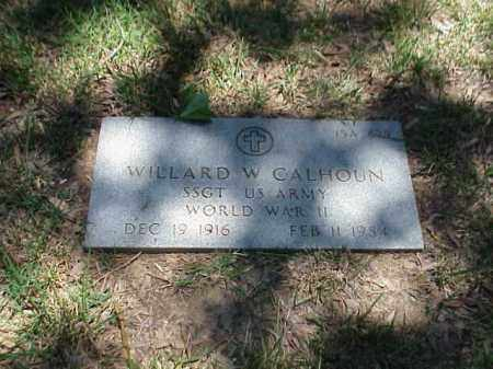 CALHOUN (VETERAN WWII), WILLARD W - Pulaski County, Arkansas | WILLARD W CALHOUN (VETERAN WWII) - Arkansas Gravestone Photos