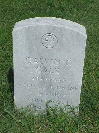 CALK (VETERAN WWI), CALVIN C - Pulaski County, Arkansas   CALVIN C CALK (VETERAN WWI) - Arkansas Gravestone Photos