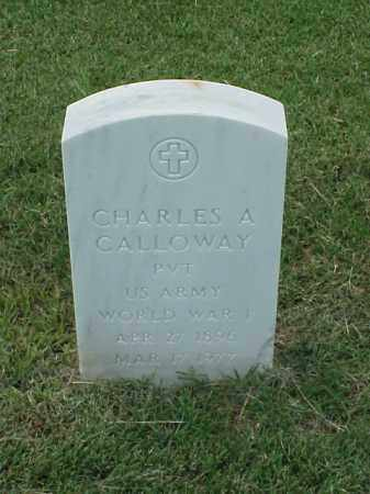 CALLOWAY (VETERAN WWI), CHARLES A - Pulaski County, Arkansas | CHARLES A CALLOWAY (VETERAN WWI) - Arkansas Gravestone Photos