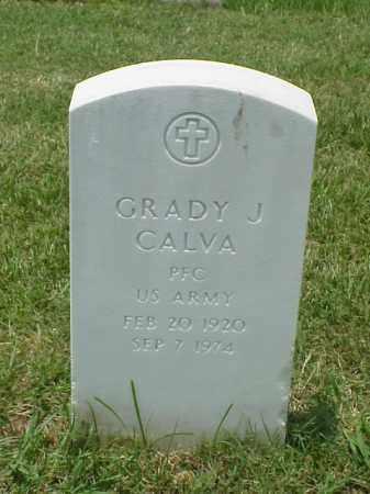 CALVA (VETERAN), GRADY J - Pulaski County, Arkansas | GRADY J CALVA (VETERAN) - Arkansas Gravestone Photos