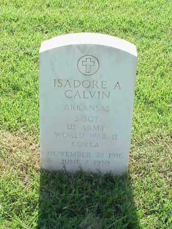 CALVIN (VETERAN 2 WARS), ISADORE A - Pulaski County, Arkansas   ISADORE A CALVIN (VETERAN 2 WARS) - Arkansas Gravestone Photos