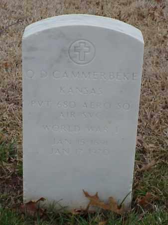 CAMMERBEKE  (VETERAN WWI), O D - Pulaski County, Arkansas | O D CAMMERBEKE  (VETERAN WWI) - Arkansas Gravestone Photos